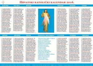 Hrvatski Kalendar 2018 Hrvatski Katolicki Kalendar 2016