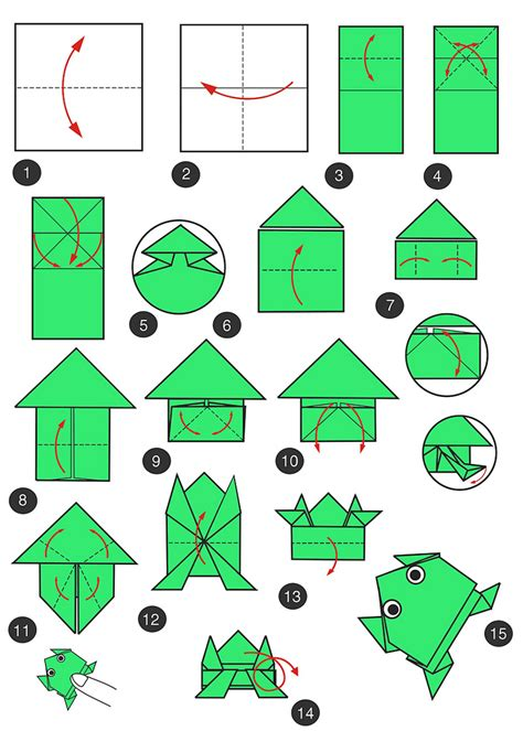 Frog Paper Folding - origami frog search oragami