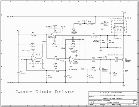 laser diode circuit diagram laser diode driver circuit schematic efcaviation