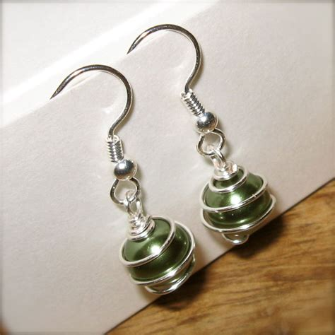 Generally Creative: Wire Wrapped Bead Jewelry: Earrings