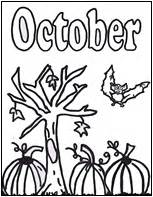 october color pumpkin day coloring page october coloring pages