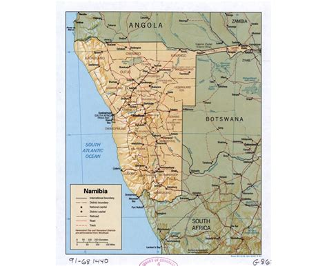 political map of namibia maps of namibia detailed map of namibia in