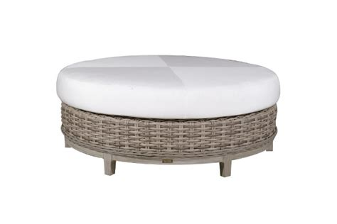 48 round ottoman catalina patio furniture collection pioneer family pools