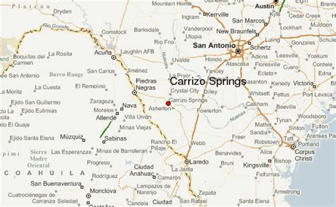 dimmit county texas map carrizo springs location guide