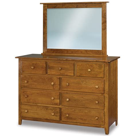 Country Mission Mule Dresser Mirror - eagle hill 9 drawer mule amish dresser mirror option