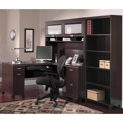 Computer Desk Set Bush Tuxedo 3 L Shape Computer Desk Set In Mocha Cherry Wc21830k Pkg2