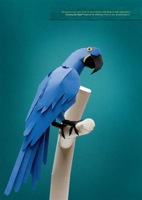Origami Advertising - eco paper quot parrot quot print ad by saatchi saatchi