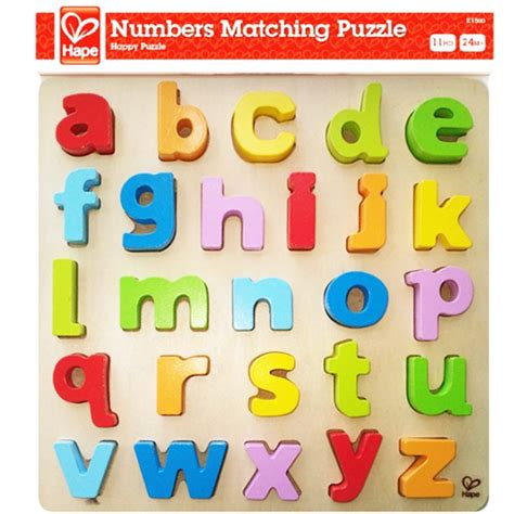 Chunky Puzzle Lowercase by Lowercase Alphabet Chunky Wooden Puzzle Educational Toys