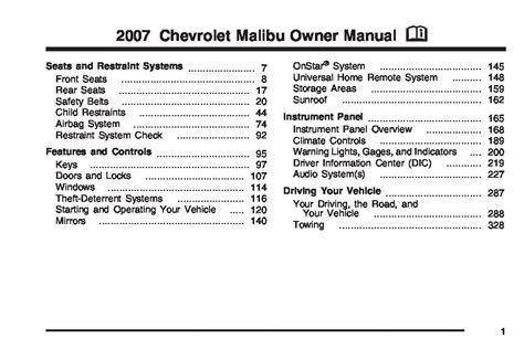 chevrolet malibu owners manual  give   damn manual