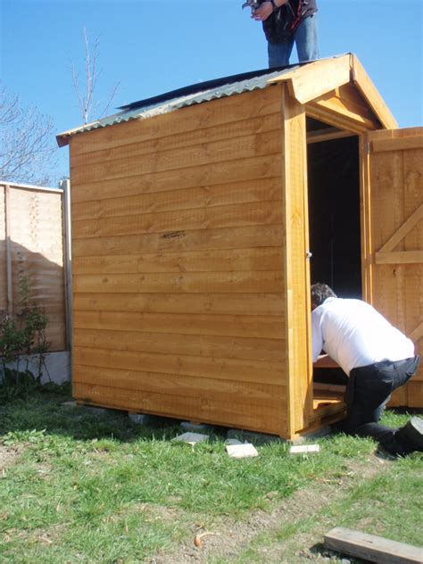 Erecting A Garden Shed by How To Erect A Shed Donegan Landscaping Dublin