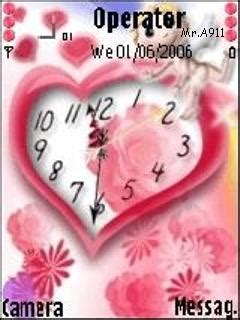 nokia themes love clock download love clock nokia theme mobile toones