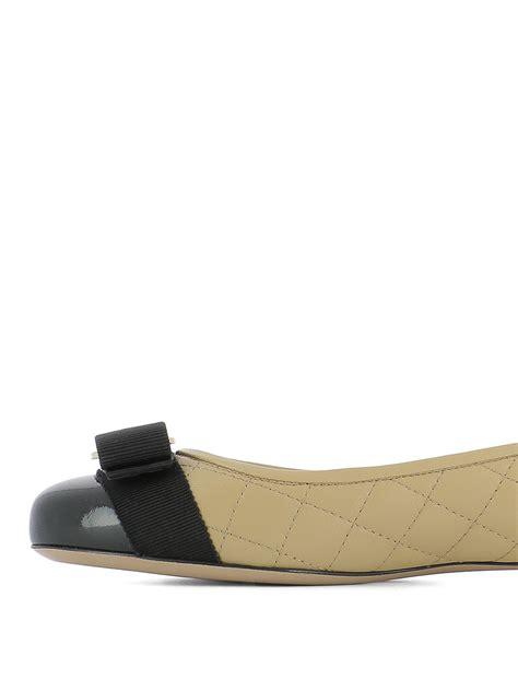 salvatore ferragamo flat shoes vara quilted leather flats by salvatore ferragamo flat