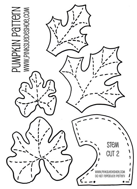 pumpkin leaf template make your own decorative fabric pumpkin stuffed with