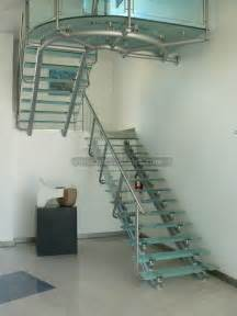 Glass Stair by Straight Glass Stairs Crystal Stairs