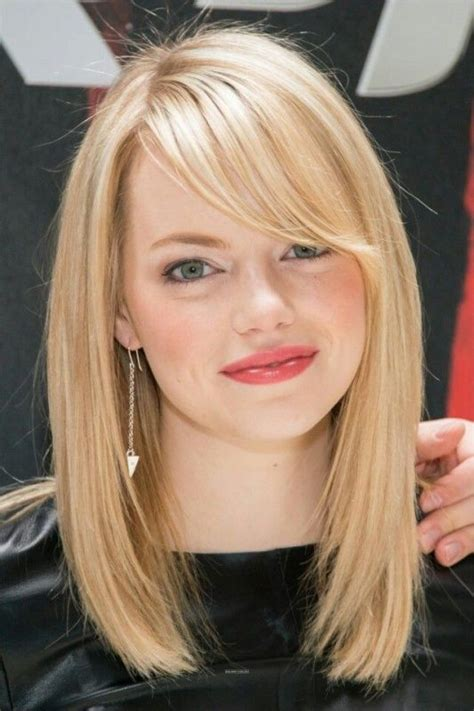 blonde hairstyles side fringe 37 emma stone hairstyles to inspire your next makeover