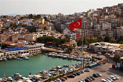 kusadasi port map kusadasi town port port of ephesus turkey