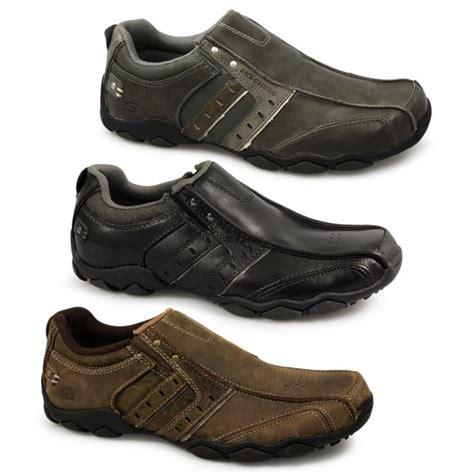 skechers diameter heisman mens slip on shoes black buy