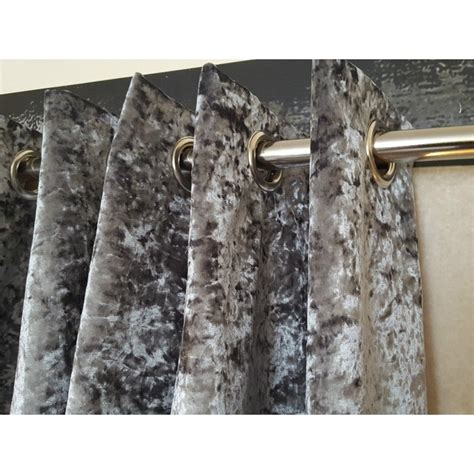 velvet silver curtains huge heavy silver crushed velvet 111 quot d 52 quot w blackout lined