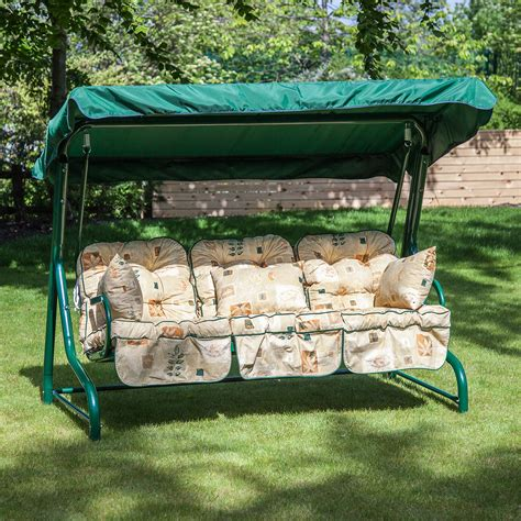 cushions for patio swing alfresia classic garden swing seat cushions 3 seater ebay