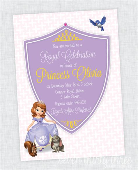 printable invitations of sofia the first princess sofia birthday invitations ideas aeroplania