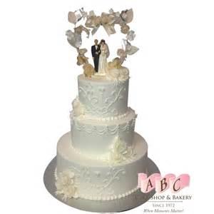 1464 3 tiered elegant traditional cake abc cake shop amp bakery