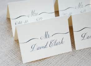 calligraphy for wedding name place cards cards