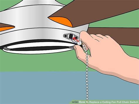 replace ceiling fan light switch how to replace a ceiling fan pull chain switch with pictures