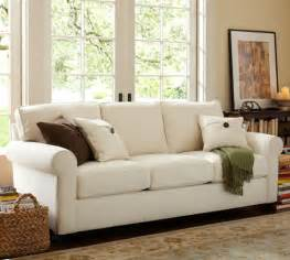 pottery barn buchanan sectional buchanan roll arm upholstered sleeper sofa pottery barn