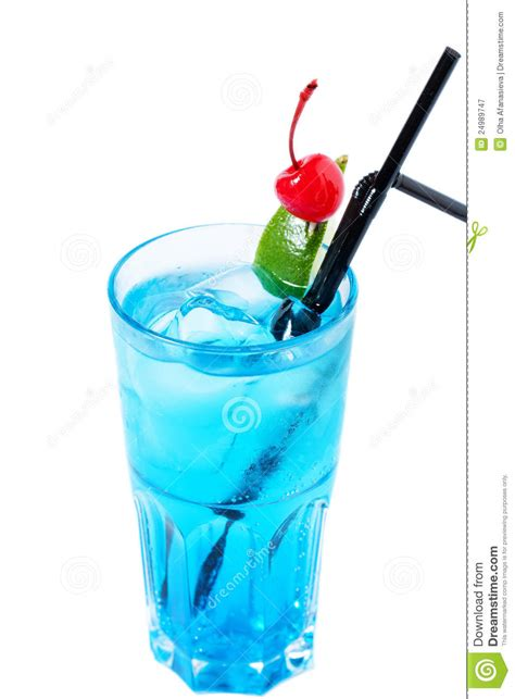 cool alcoholic cocktail with a cherry royalty free stock