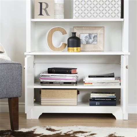 3 shelf bookcase with doors south shore vito 3 shelf bookcase with doors walmart ca