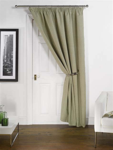 green door curtain thermal lined block out door curtain 66 x 84 pencil