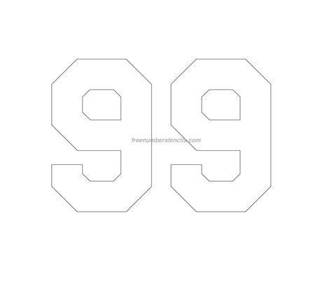 free number templates free hockey 99 number stencil freenumberstencils com