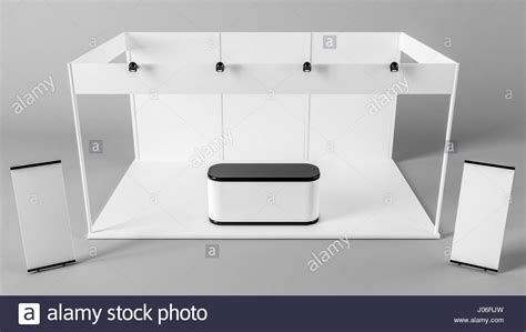 white creative exhibition stand design booth template