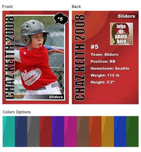 baseball player card template new template set trading cards photoshop elements