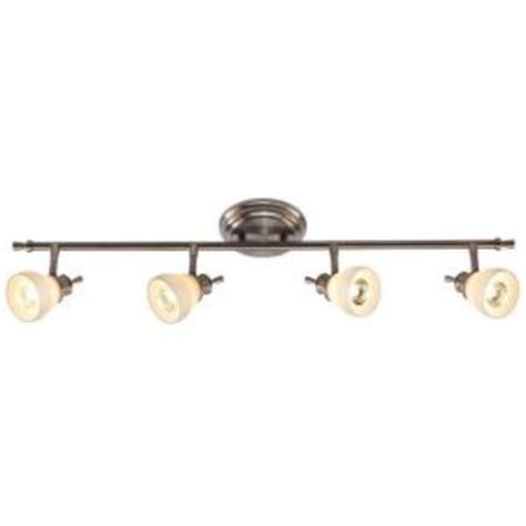 Hton Bay Track Lighting Fixtures Hton Bay 4 Light Satin Nickel Directional Ceiling Or Wall Track Lighting Fixture Rb169 C4