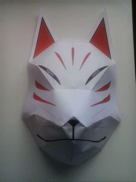 Kitsune Mask Papercraft - papercraft kitsune mask by asiersempai on deviantart