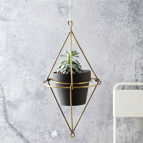 Hanging Brass Planter by Brass Furniture Lighting And Decor