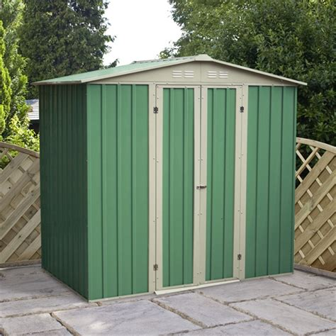 Metal Garden Sheds 6 X 4 Value Apex Metal Garden Shed
