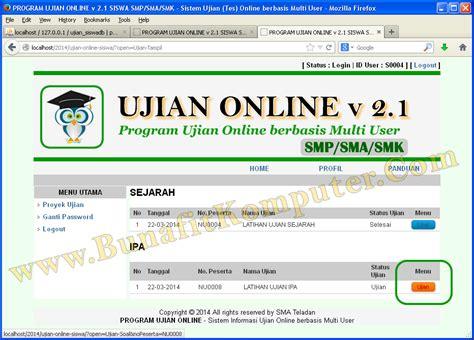 membuat database ujian online program aplikasi ujian tes online siswa smp sma sistem