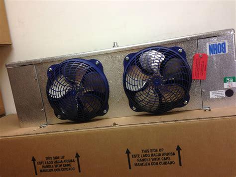 walk in cooler fan bohn 2 fan electric defrost walk in freezer evaporator