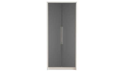 gray wardrobe minsk grey gloss wardrobe 2 door wardrobes george at