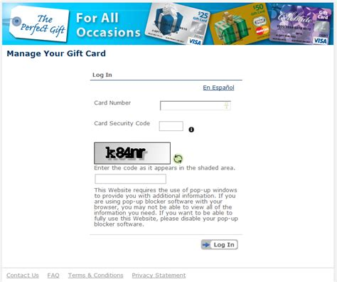 My Gift Card Site Register - how to guide activate a gift card and create a pin travel with grant