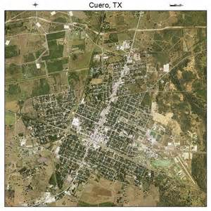 aerial photography map of cuero tx