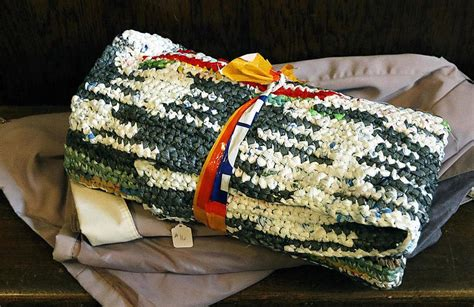 Sleeping Mats Made From Plastic Bags by Ringwood Church Volunteers Crochet Sleeping Mats For The