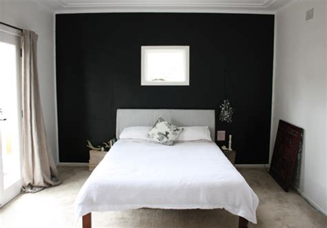 the happy home bedroom makeover new black wall