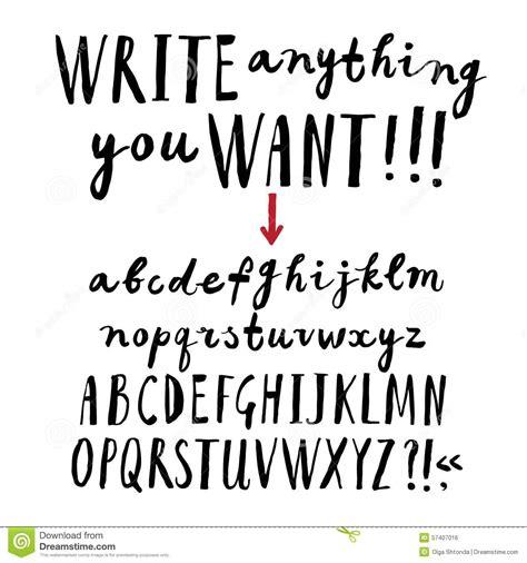 hand drawn pattern font brush hand drawn font stock illustration image 57407016