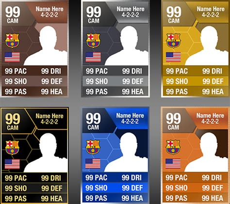 fifa 13 ultimate team card templates by itsmonotune on