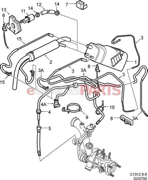 saab 9 5 vacuum diagram saab auto parts catalog and diagram
