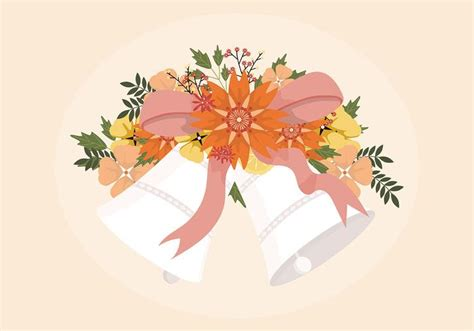 Wedding Bell Vector Free by Wedding Bells Illustration Free Vector