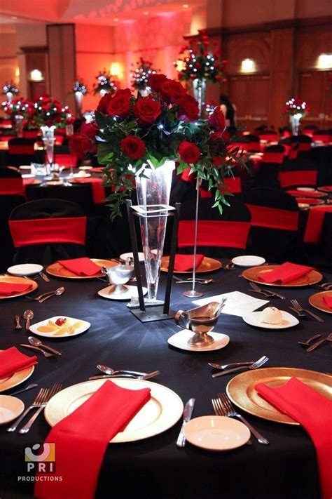 red black gold wedding reception   Google Search   Red